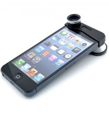Clip Photo 3 en 1 - iPhone 5 - 5S - Gris