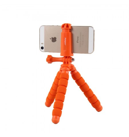 Trépied Flexible Fotopro RM-95 avec Smartphone - Orange