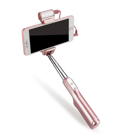 Adyss A6 - Perche a Selfie Bluetooth Flash - Rose - Avec iPhone 6