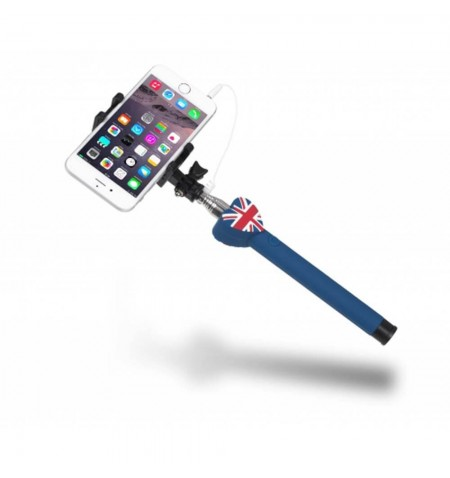 Perche Selfie Filaire Union Jack avec iPhone 6