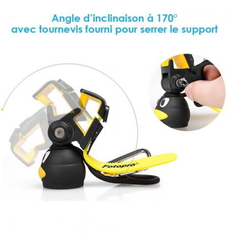 Kit Pingouin Bluetooth H1 - Angle inclinaison