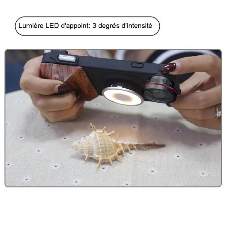 Coque Photo Professionnelle iPhone - Disque LED