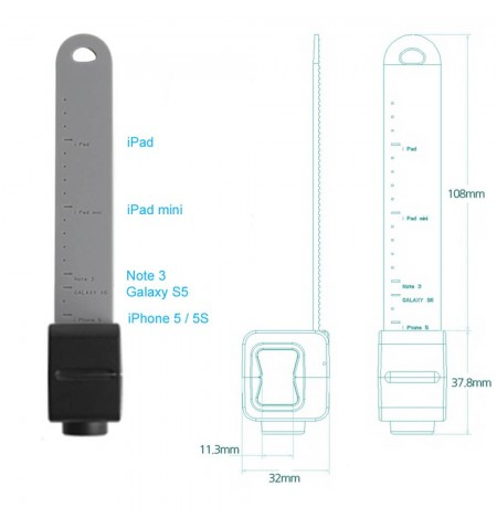 Support Holder Q - Dimensions