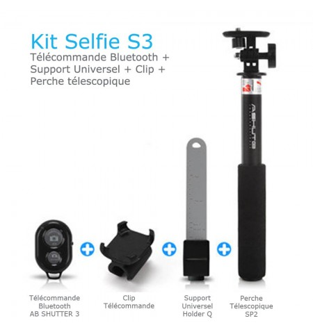 Kit Selfie S3 - Pour Smartphone (iOS & Android) - Contenu