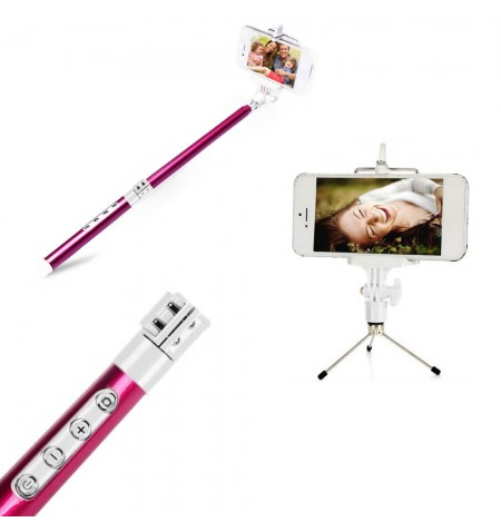 Coffret Photo Bluetooth Multifonctions - iOS et Android - Rose