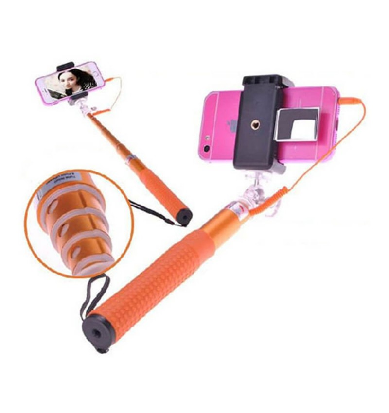 Canne Selfie filaire - Orange