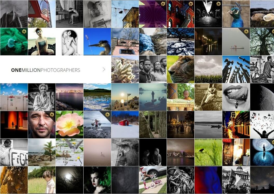 One Million Photographers, site, galerie,...